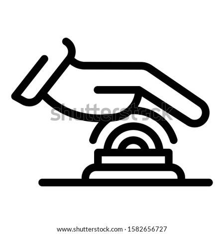Hand touch authentication icon. Outline hand touch authentication vector icon for web design isolated on white background
