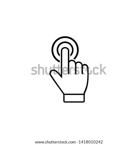 Hand Touch icon. Hand Touch symbol vector