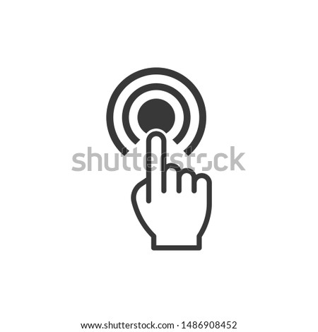 Hand touch icon vector illustration eps 10