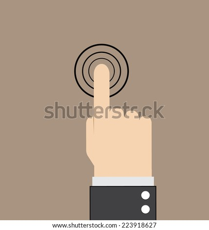 hand touch vector illustration #223918627