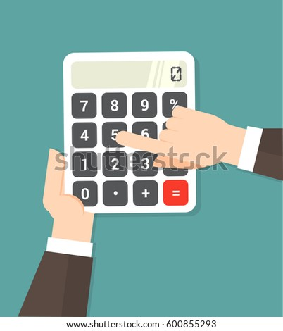 hand using a calculator