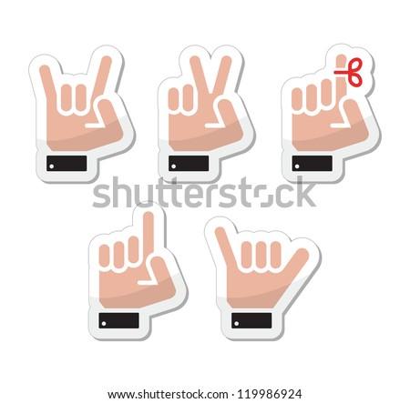 hand vector gestures  signals