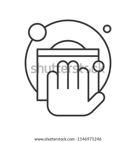 Hand keyboard typing vector Stock Photo 267096290 - Avopix com