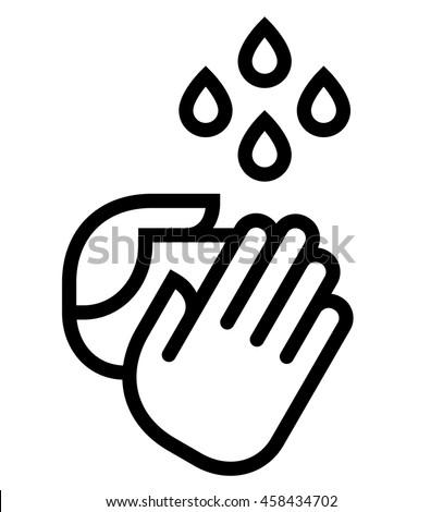 Hand washing icon