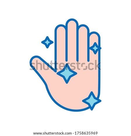 Hand washing line and fill style icon design, Hygiene wash health clean healthy and bacteria heme Vector illustration