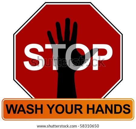 logo umno vector. vector : Hand Washing Sign