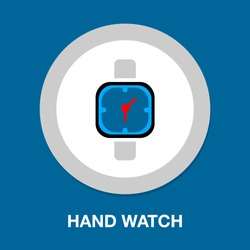 hand watch icon, Clock icon - Clock symbol, vector Clock isolated