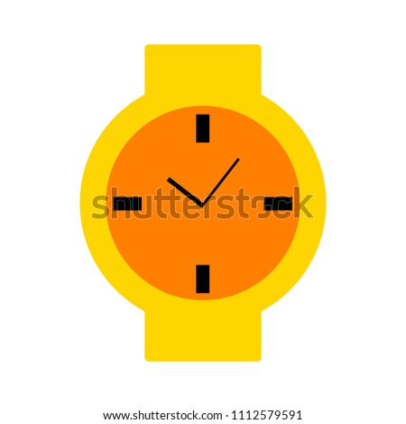 hand watch icon, Clock icon - vector Clock symbol isolated