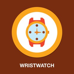 hand watch icon, wristwatch illustration - Clock symbol, vector Clock isolated