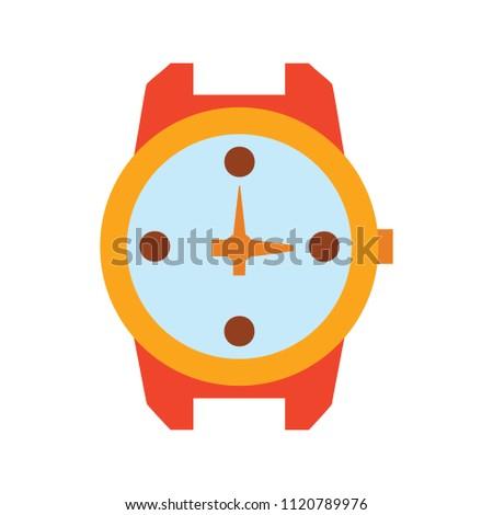 hand watch icon, wristwatch illustration - Clock symbol, vector Clock isolated