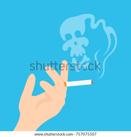 hand with a cigarette and a