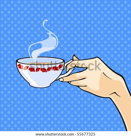 Hand with a cup of tea