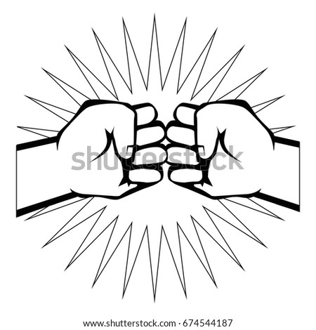 Hand with clenched fist icon