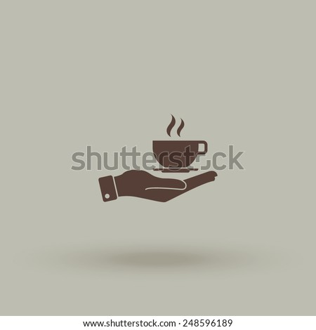 hand with coffee cup vector
