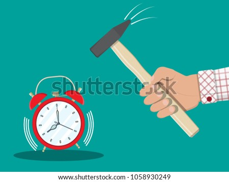 hand with hammer trying to