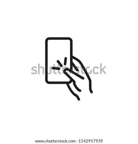 hand with nfs card line icon