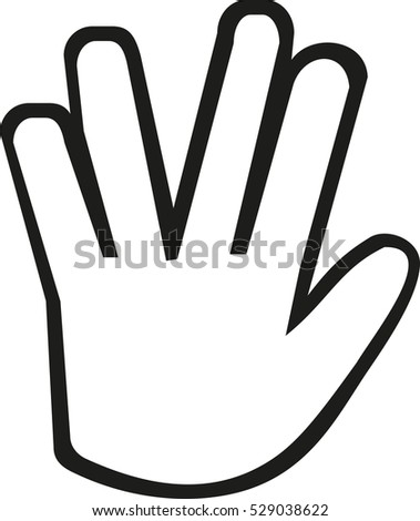 hand with vulcan greet icon