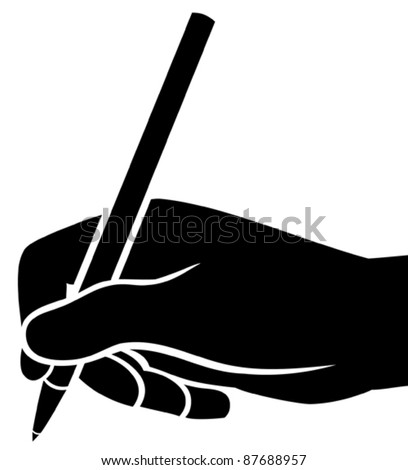 hand writing - stock vector