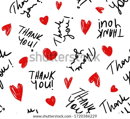 hand writing thank you text