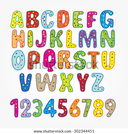 Number Names Worksheets : letters of the alphabet and numbers ...