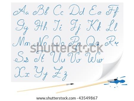 Hand-written font  for creation congratulatory inscriptions
