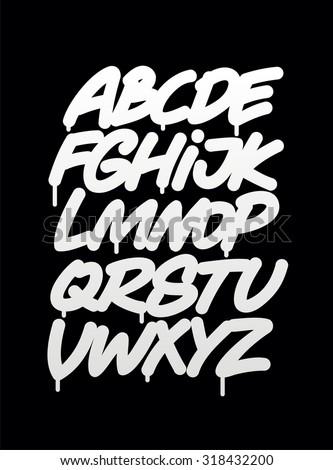 hand written graffiti font