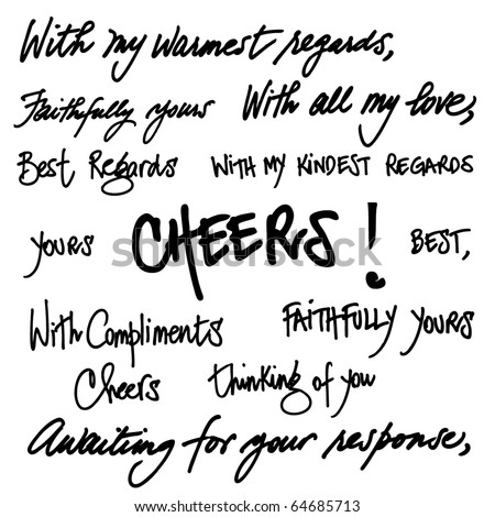 Hand written greetings. Vector. Other set in my portfolio.