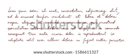 hand written text   latin note