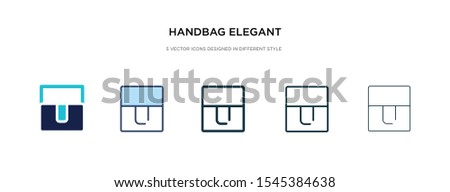 handbag elegant de icon in different style vector illustration. two colored and black handbag elegant de vector icons designed in filled, outline, line and stroke style can be used for web, mobile,