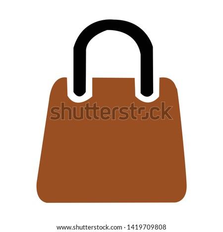 Handbag icon. flat illustration of Handbag vector icon for web