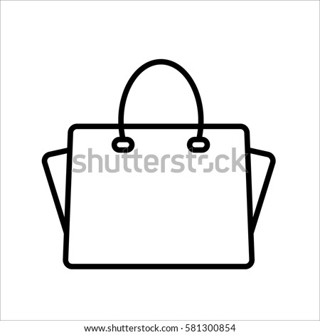 handbag icon on white background