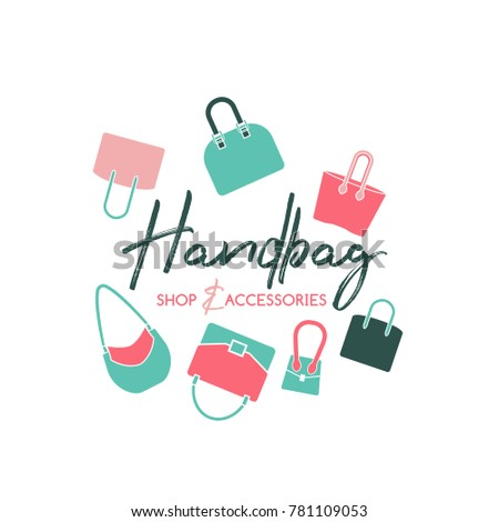handbag shop logo in a modern