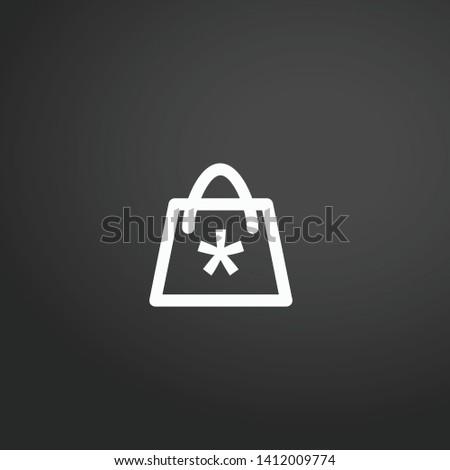 Handbag vector icon. Handbag concept stroke symbol design. Thin graphic elements vector illustration, outline pattern for your web site design, logo, UI. EPS 10.