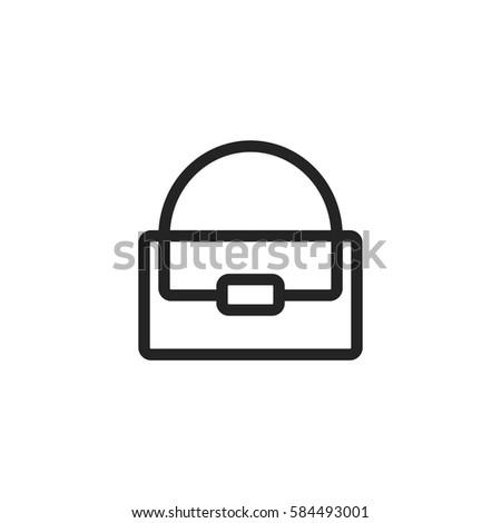Handbag vector icon, woman bag symbol. Modern, simple flat vector illustration for web site or mobile app