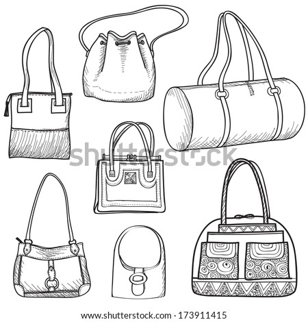 Search besides 120571606 besides Stock Vector Fashion Sketch Collection Of Women Accessories Fashion Set Hand Drawn Vector Isolated Doodle further Retro things together with Search. on stock vector collection design women s handbags hand drawn