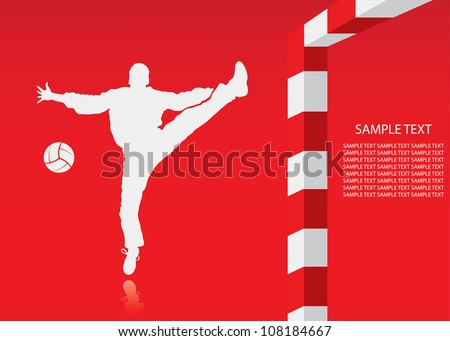 Handball background - vector illustration