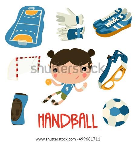 handball kid cute set handball