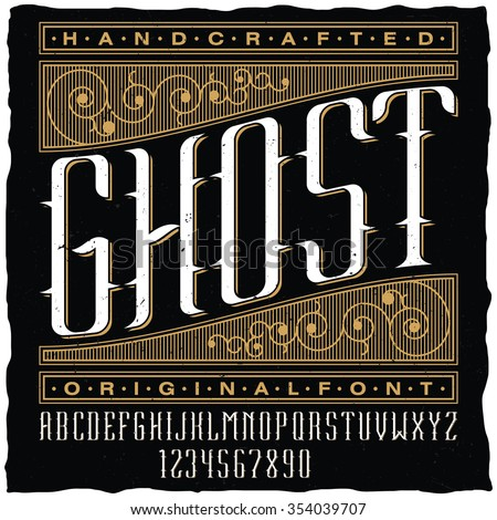handcrafted ghost vintage