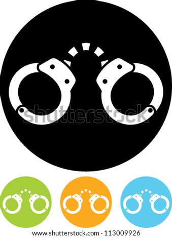 Handcuffs - Vector icon isolated