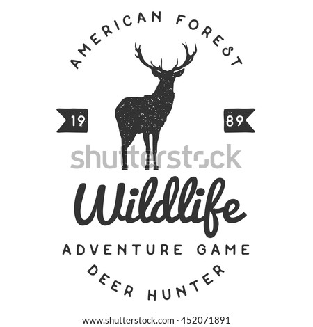 Handdrawn adventure logo and badges