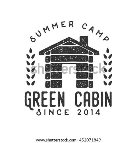 handdrawn camping logo and...