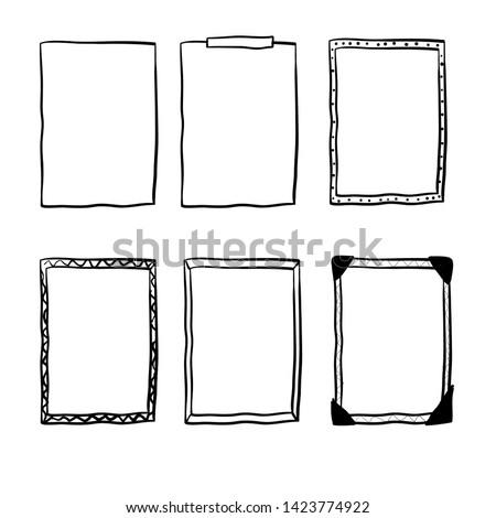 handdrawn doodle frame