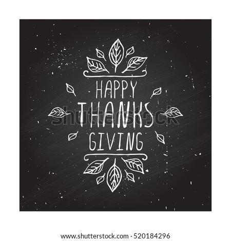 handdrawn thanksgiving label