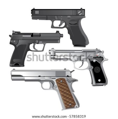 handgun  pistol vector