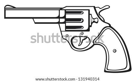 handgun  pistol vector  pistol