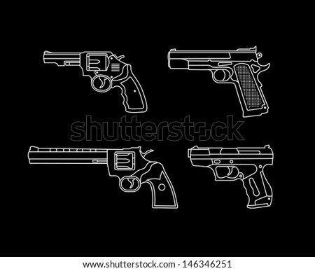 handgun pistols and revolvers