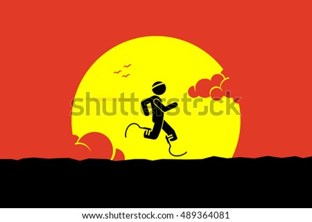 handicap runner running with