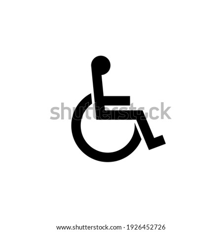 Handicap signage vector wc invalid icon. Disable toilet access wheelchair sign design Stockfoto ©
