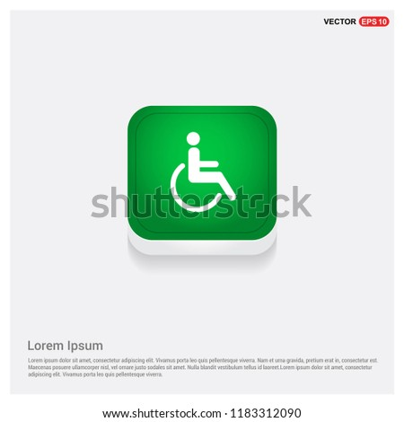 Handicapped icon design vector