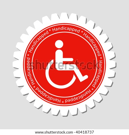 Handicapped Sign Label